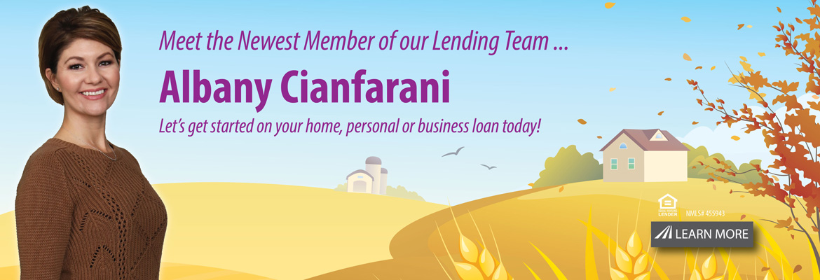 Newest Member of our lending team Albany Cianfarani